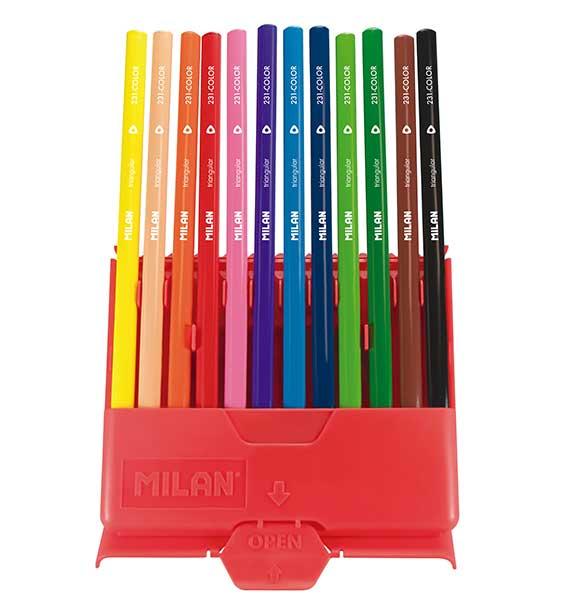 Flexibox 24 l/ápices de colores triangulares